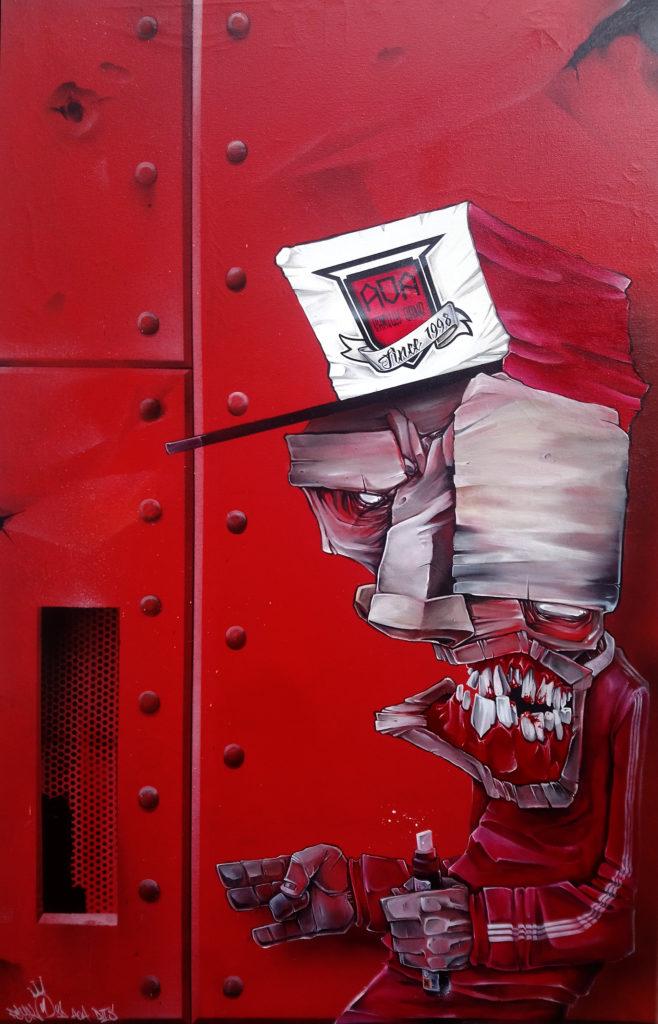 """Graffiti """"b-boy déstructuré"""" par Psyko86"""