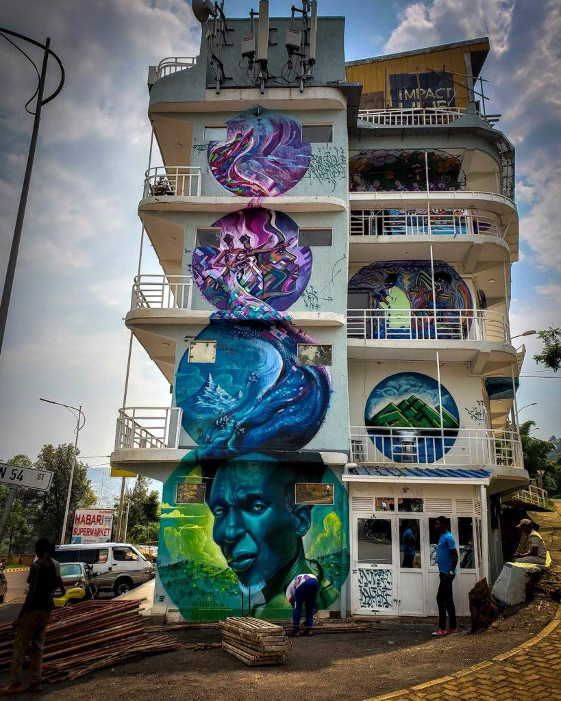 Immeuble décoré par Monk.E