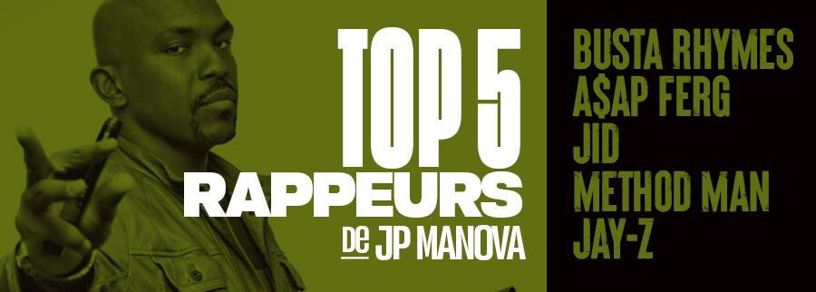 top 5 rappeurs JP Manova