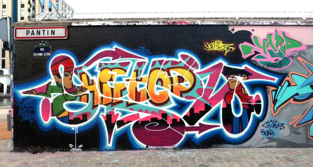 Graffiti yellow Hip Hop