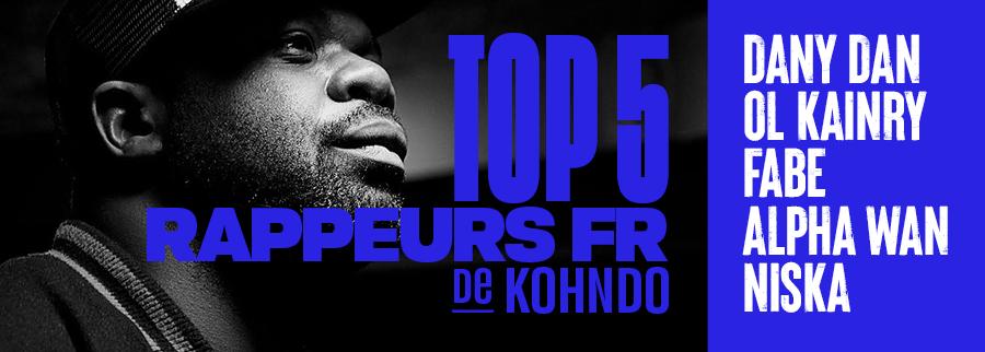 Top 5 Rap français Kohndo pour T-Rex Magazine